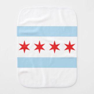 Chicago Flag Burp Cloth