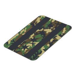 Chicago Flag Camouflage Premium Flex Magnet