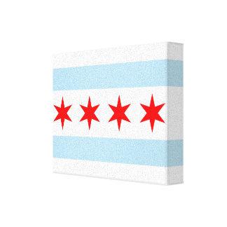 Chicago Flag Canvas Art