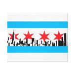 Chicago Flag Canvas Prints