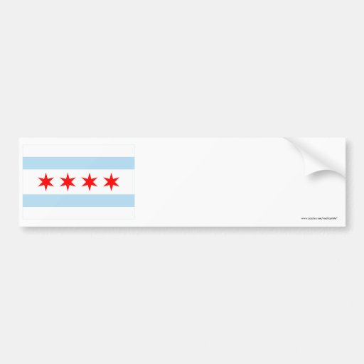 Chicago Flag Car Bumper Sticker