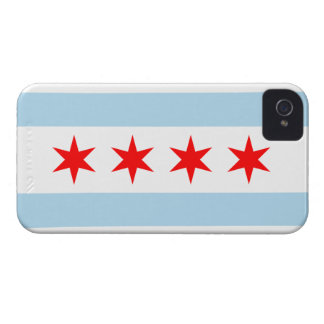 Chicago Flag iPhone 4 Cover