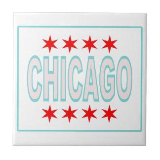 Chicago Flag Ceramic Tile