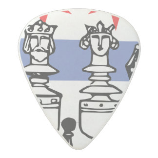 Chicago Flag & Chess Board Acetal Guitar Pick