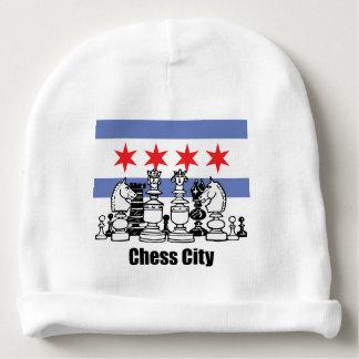 Chicago Flag & Chess Board Baby Beanie