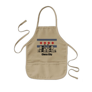 Chicago Flag & Chess Board Kids' Apron