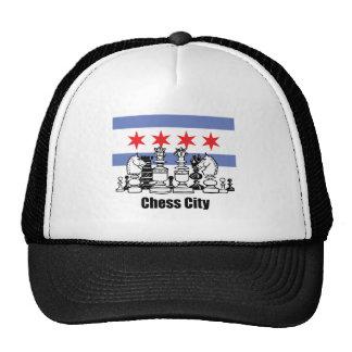 Chicago Flag & Chess Board Trucker Hat