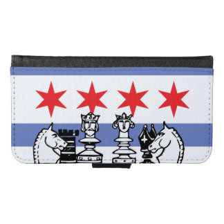 Chicago Flag Chess Wallet Phone Case For Samsung Galaxy S6