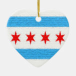 Chicago Flag Christmas Ornaments