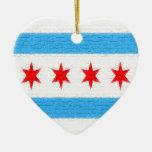 Chicago Flag Christmas Ornaments