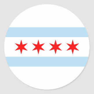 Chicago Flag Classic Round Sticker