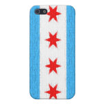 Chicago Flag Cover For iPhone 5