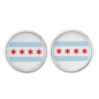 Chicago Flag Cufflinks