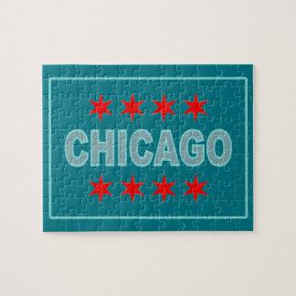 Chicago Flag Design Jigsaw Puzzle