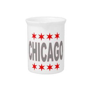 Chicago Flag Design Pitcher