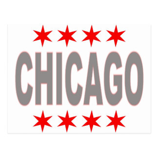 Chicago Flag Design Postcard