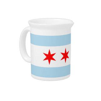 Chicago Flag Drink Pitcher