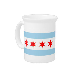 Chicago Flag, Illinois State Pitcher