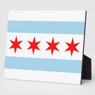 Chicago Flag, Illinois State Plaque