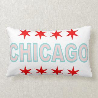 Chicago Flag inspired Design Lumbar Pillow