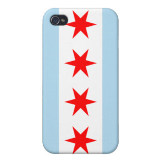 Chicago Flag Cover For iPhone 4
