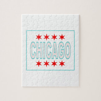 Chicago Flag Jigsaw Puzzle
