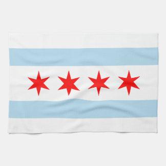 Chicago Flag Kitchen Towel