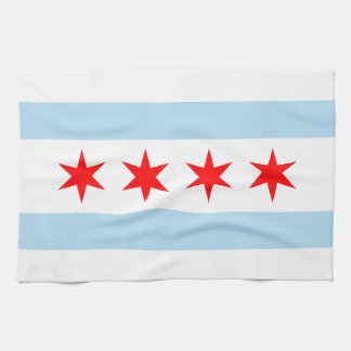 Chicago Flag Kitchen Towels