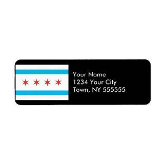 Chicago Flag Label
