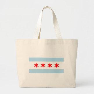 Chicago Flag Large Tote Bag