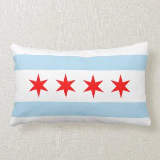 Chicago Flag Lumbar Pillow