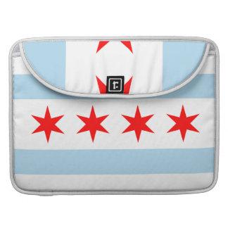 Chicago Flag Macbook Pro Rickshaw Flap Sleeve Sleeve For MacBooks