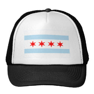 Chicago Flag Mesh Hats