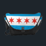 "Chicago Flag Messenger Bag<br><div class=""desc"">The Chicago flag is one of the most widely recognized flags in the USA. Show your love of Chicago with this Chicago flag messenger bag. Perfect as a gift for friends or as a gift for yourself. Whether on your way to work, school or out for a day of adventure...</div>"