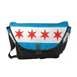 Chicago Flag Messenger Bag<br><div class='desc'>The Chicago flag is one of the most widely recognized flags in the USA. Show your love of Chicago with this Chicago flag messenger bag. Perfect as a gift for friends or as a gift for yourself. Whether on your way to work, school or out for a day of adventure...</div>