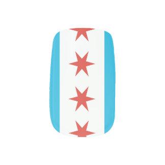 Chicago Flag Minx Nail Wraps