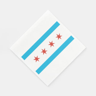 Chicago Flag Napkin