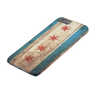 Chicago Flag on Old Wood Grain Barely There iPhone 6 Case