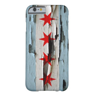 Chicago Flag Paint Peel Barely There iPhone 6 Case