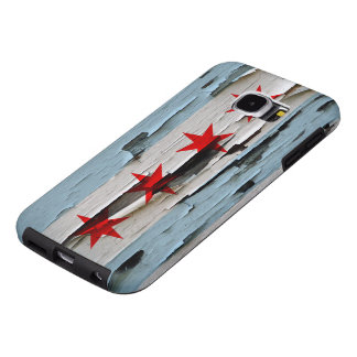Chicago Flag Paint Peel Look Samsung Galaxy S6 Case