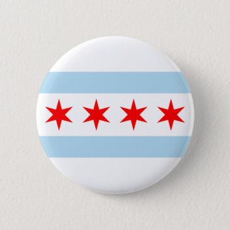 Chicago Flag Pinback Button
