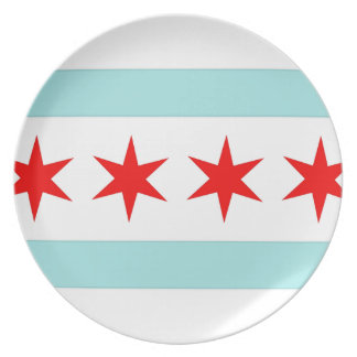 Chicago Flag Plate