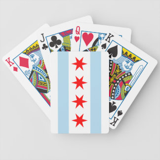 Chicago Flag Bicycle Playing Cards