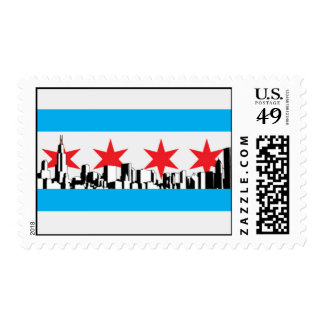 Chicago Flag Postage Stamps