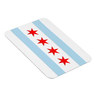 Chicago Flag Premium Flex Magnets