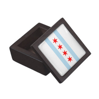 Chicago Flag Premium Jewelry Box