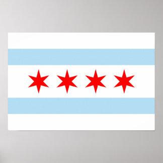 Chicago Flag Print