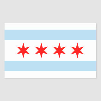 Chicago Flag Rectangular Sticker