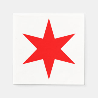Chicago Flag Red 6-Pointed Star Napkin