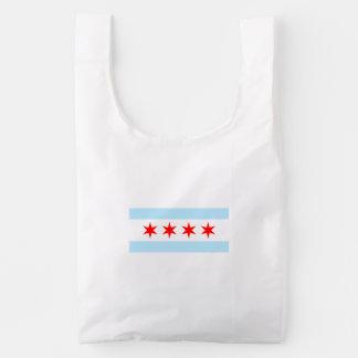 Chicago Flag Reusable Bag